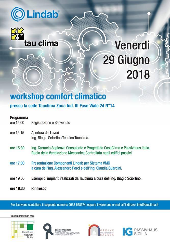 Workshop su Ventilazione Meccanica Controllata