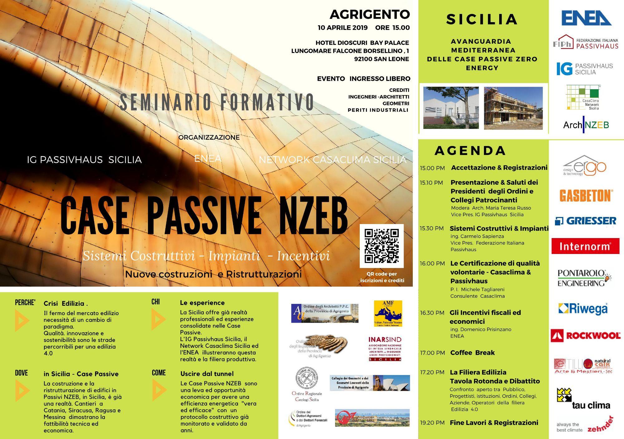 AG - CASE Passive Zero Energy - Incontro Convegno ad Agrigento - 10 Aprile 2019