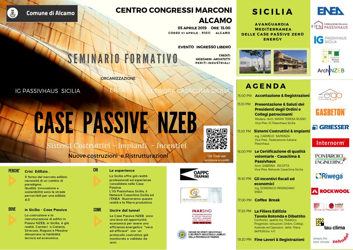 TP - CASE Passive Zero Energy - Incontro Convegno ad Alcamo (TP) - 05 Aprile 2019