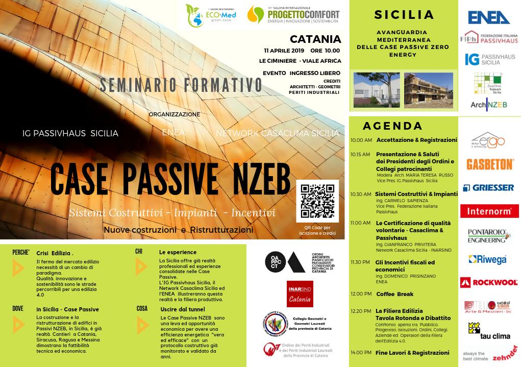 CT - CASE Passive Zero Energy - Incontro Convegno a Catania - 11 Aprile 2019