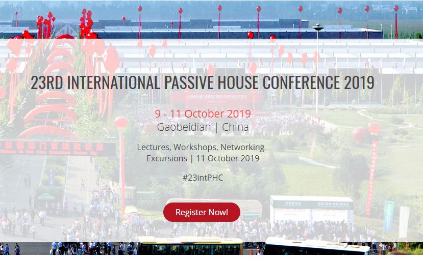 INTERNATIONAL PASSIVE HOUSE CONFERENCE 2019                   09-11 Ottobre 2019