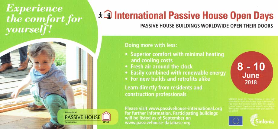 International Passive House Open Days 2018 - 8/10 Giugno 2018